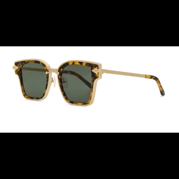 b32671c48280 Karen Walker Accessories - Karen Walker REBELLION IN CRAZY TORT   GREEN MONO